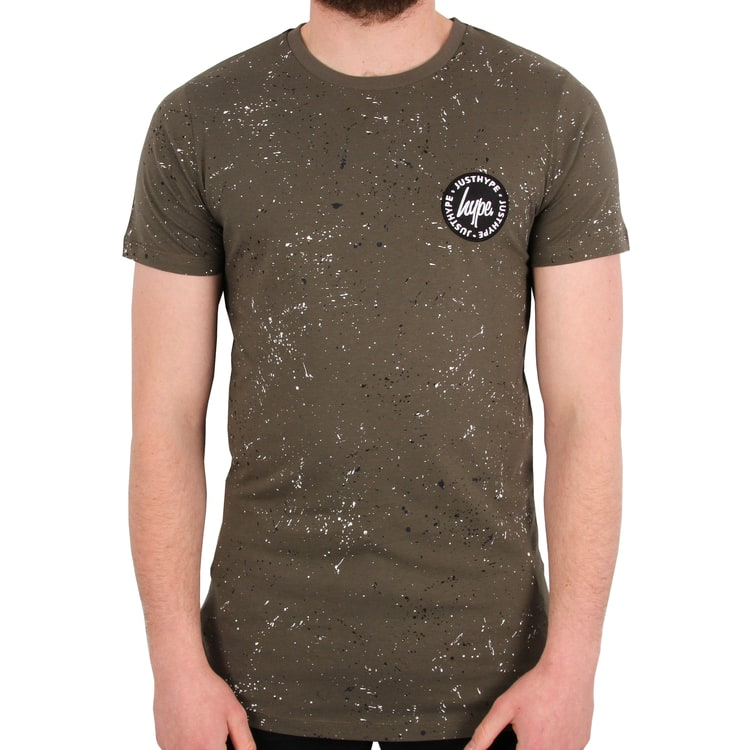 Hype Speckle Stamp T shirt - Khaki/Multi