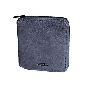 B-Stock WeSC Michel Leather Zip Wallet Medium Blue (No packaging)