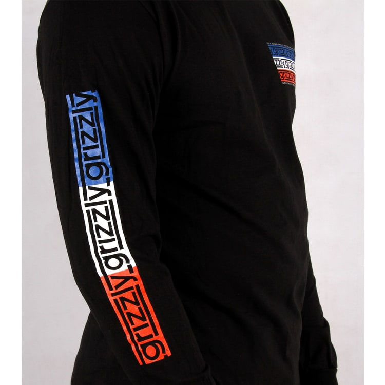 Grizzly Birmingham Long Sleeve T shirt - Black