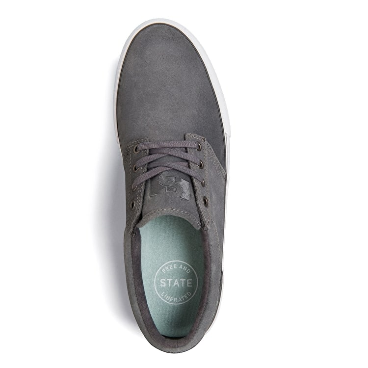 State Elgin Skate Shoes - Pewter/Mint Suede