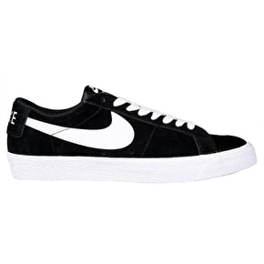 Nike SB Blazer Zoom Low Skate Shoes - Black/White