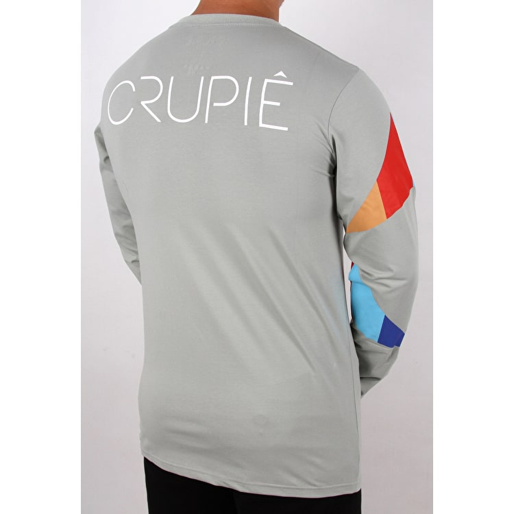 Crupie Dots Long Sleeve T shirt - Grey