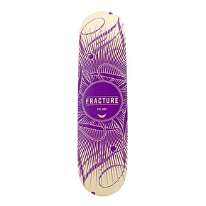 Fracture Skateboard Deck - DB15 Purple 8.125