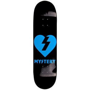 Mystery Skateboard Deck - Neon Heart - Blue - 8.5''