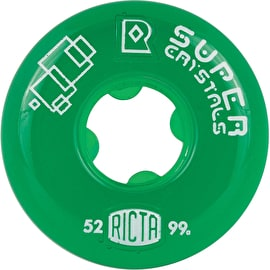 Ricta Super Crystals 99a Skateboard Wheels - Green 52mm