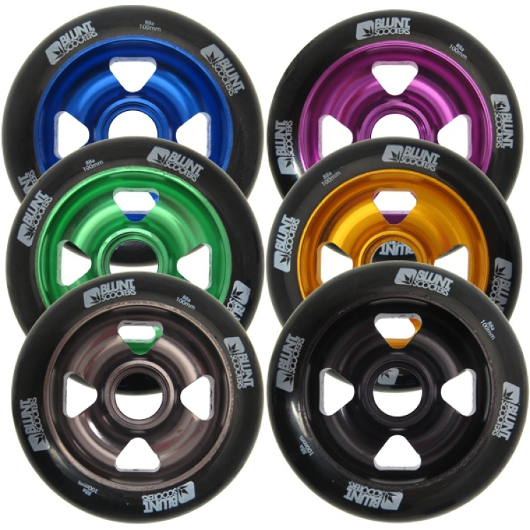 Blunt Cross 4 Metal Core Wheel 100mm Black Pu
