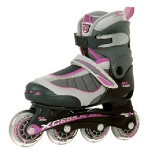 Xcess MX S1000 Semi Soft Adjustable Inline Skates - Lilac