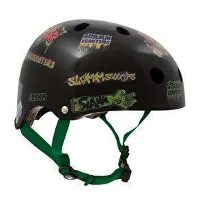 Slamm Sticker Skate Helmet Black