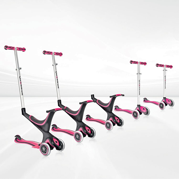 Globber Evo 5-in-1 Complete Scooter - Deep Pink