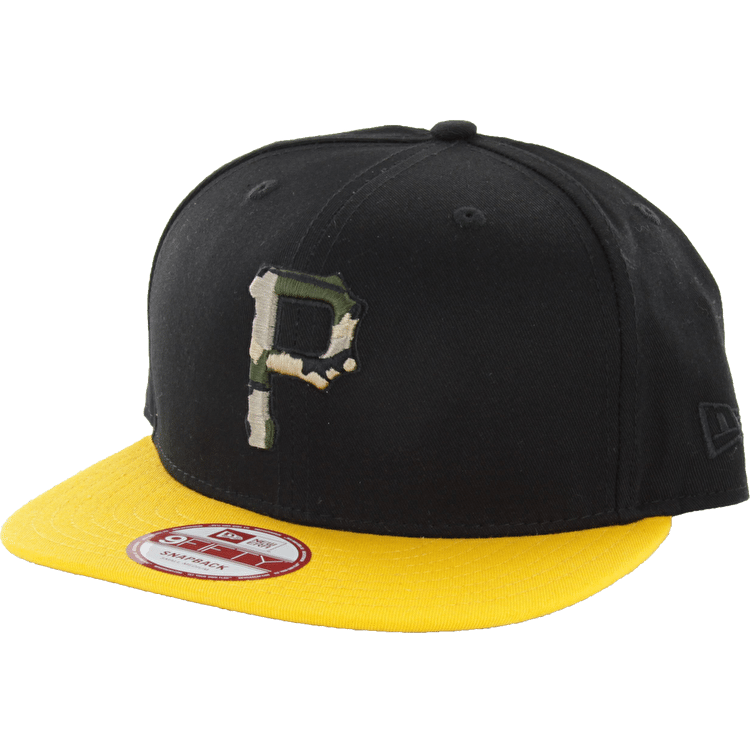New Era Camo Fill Pittsburgh Pirates Snapback Cap