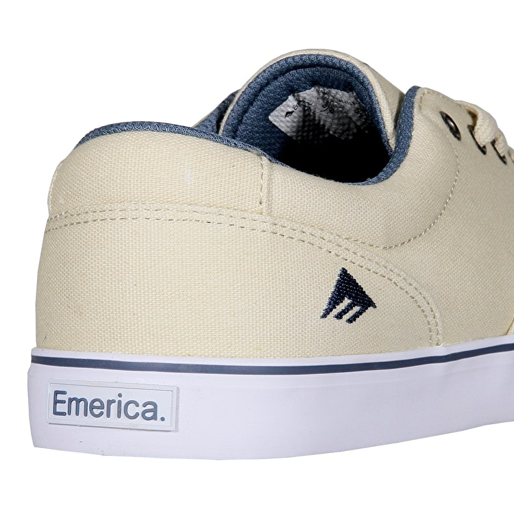 Emerica Provost Slim Vulc Skate Shoes - White/Blue
