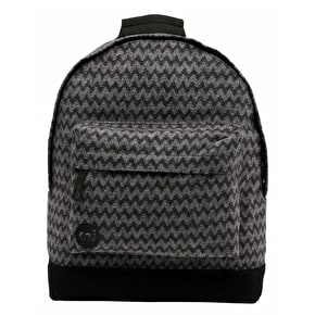 Mi-Pac Backpack - Felted Chevron Charcoal/Black