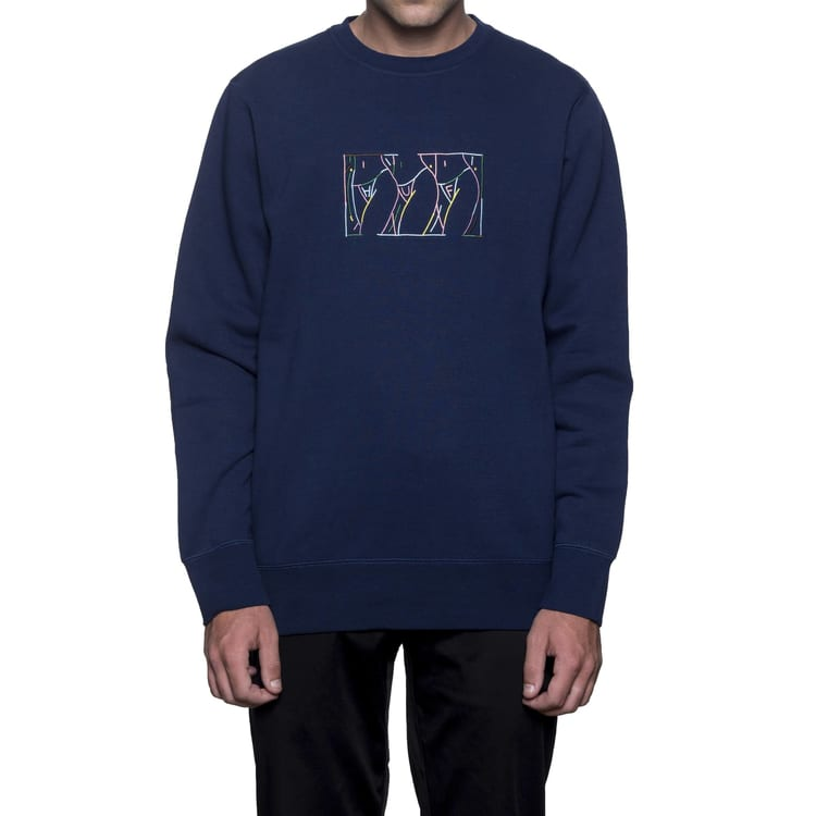 Huf Malibu Crew Fleece Crew Neck - Navy