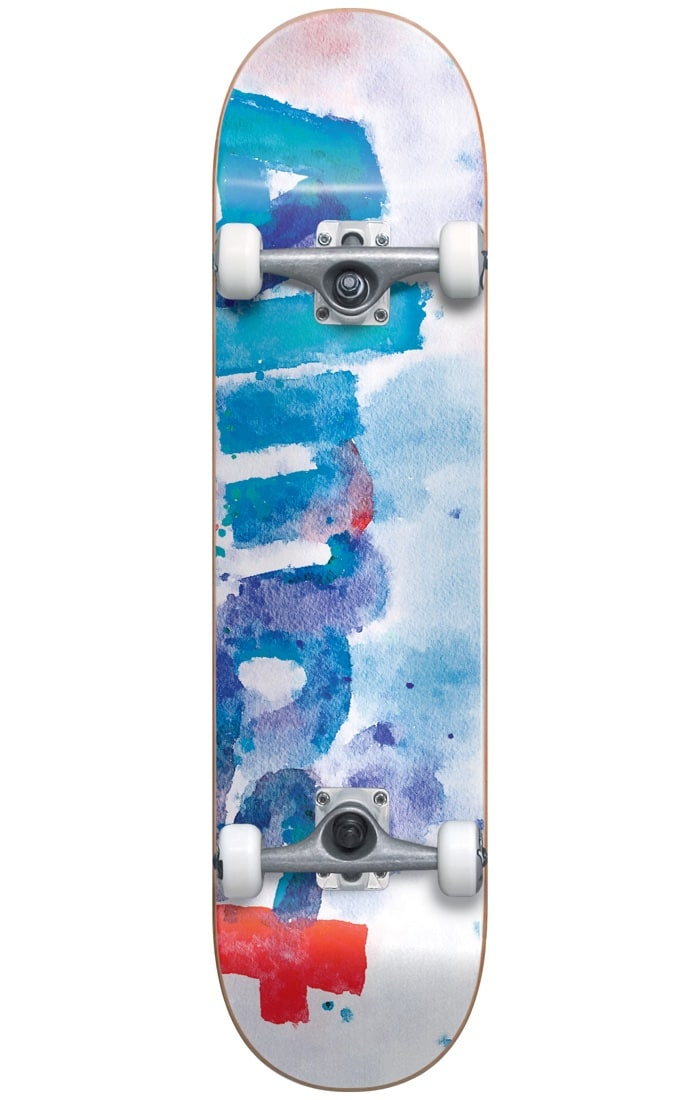 Image of Almost Blotchy Complete Skateboard - White 8""
