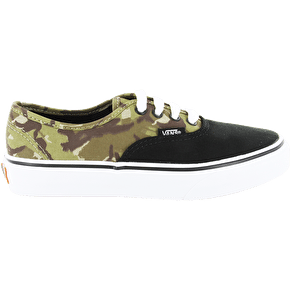 Vans Authentic Kids Shoes - (2 Tone Camo) Black/True White