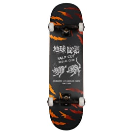 Globe G2 Cut Club Complete Skateboard - Black/Makatza 8.25