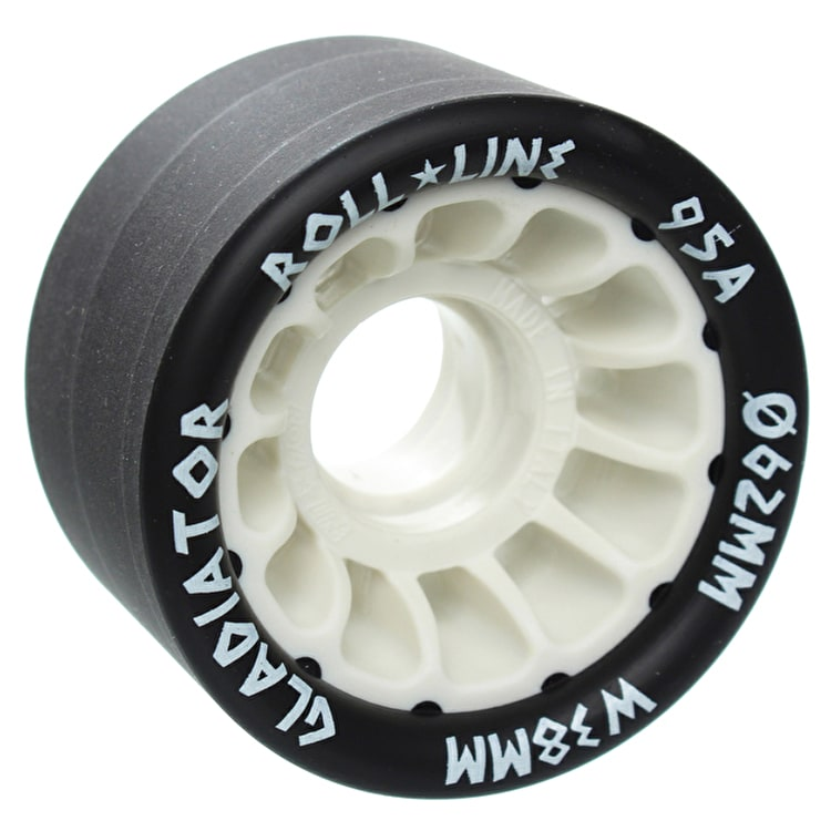 Roll Line Gladiator Roller Derby Wheels 62mm 95a - White