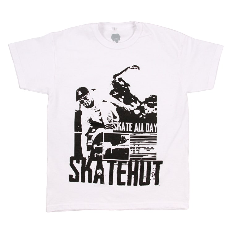 SkateHut Skate All Day Kids T-Shirt - White