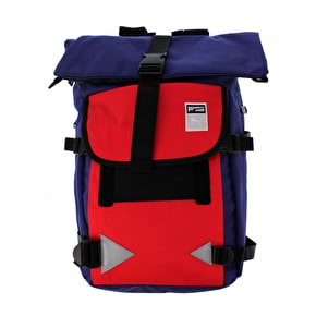 Puma Traction Backpack - Navy Blue/Red