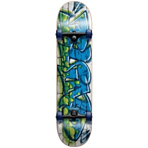Blind Spray Wall Youth Complete Skateboard - Green/Blue 7