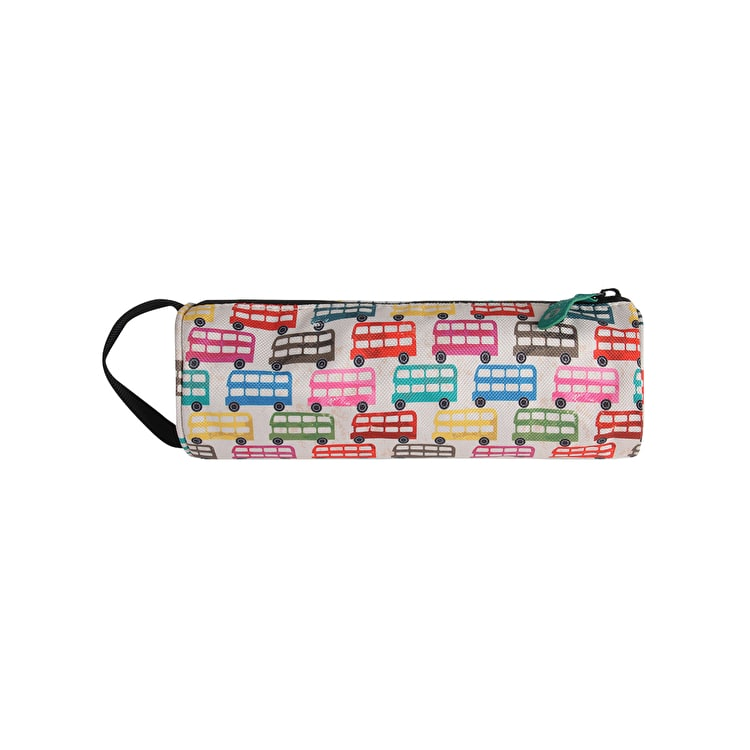 Mi-Pac Buses Pencil Case - Cream Multi