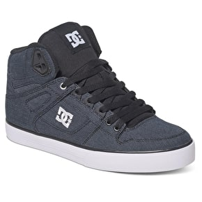 DC Spartan High WC TX SE Skate Shoes - Black Dark Used