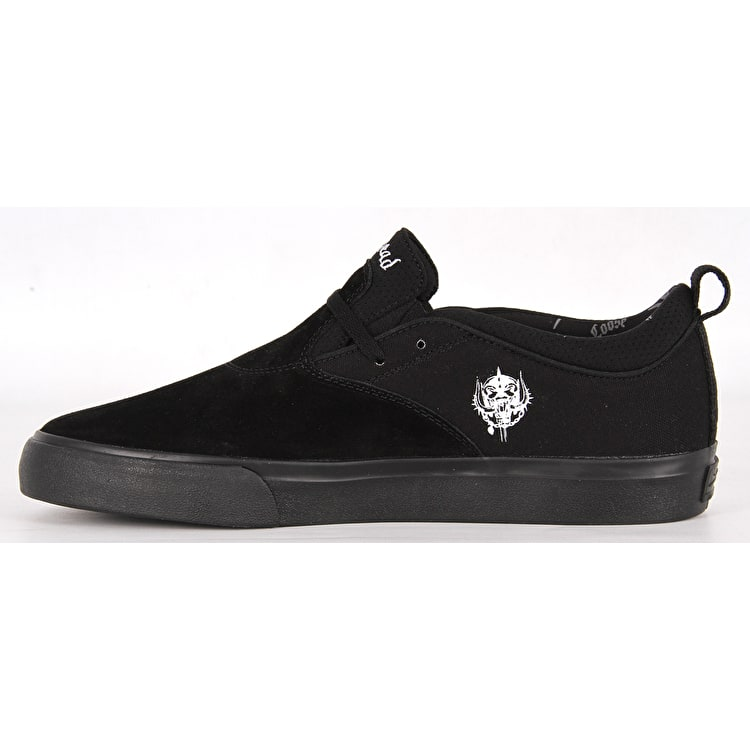 Lakai Riley 2 - Motorhead Skate Shoes - Black Suede