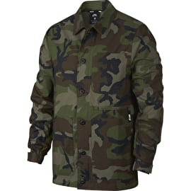 Nike SB Flex Camo Jacket - Medium Olive/Black