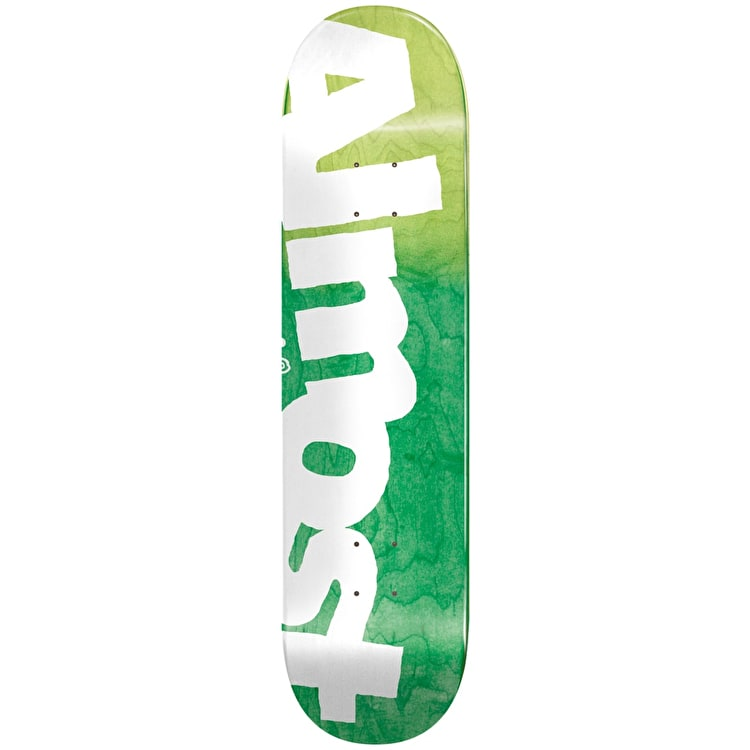 Almost Side Pipe HYB Skateboard Deck - Green Fade 8.5""