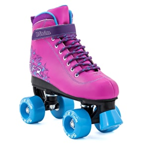 B-Stock SFR Vision II Kids Roller Skates - Pink/Blue UK 2 (Box Damage)