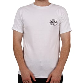 Santa Cruz Winkowski Primeval Blackout T-Shirt - White