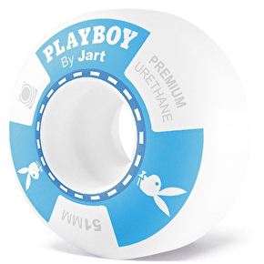 Jart x Playboy Poker Skateboard Wheels - Blue 51mm