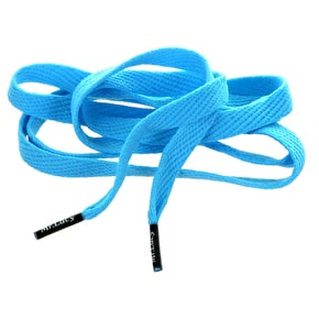 Mr Lacy Shoelaces - Flatties Mellow Blue/Black Tip