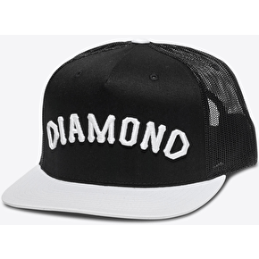 Diamond Arch Snapback Cap - Black