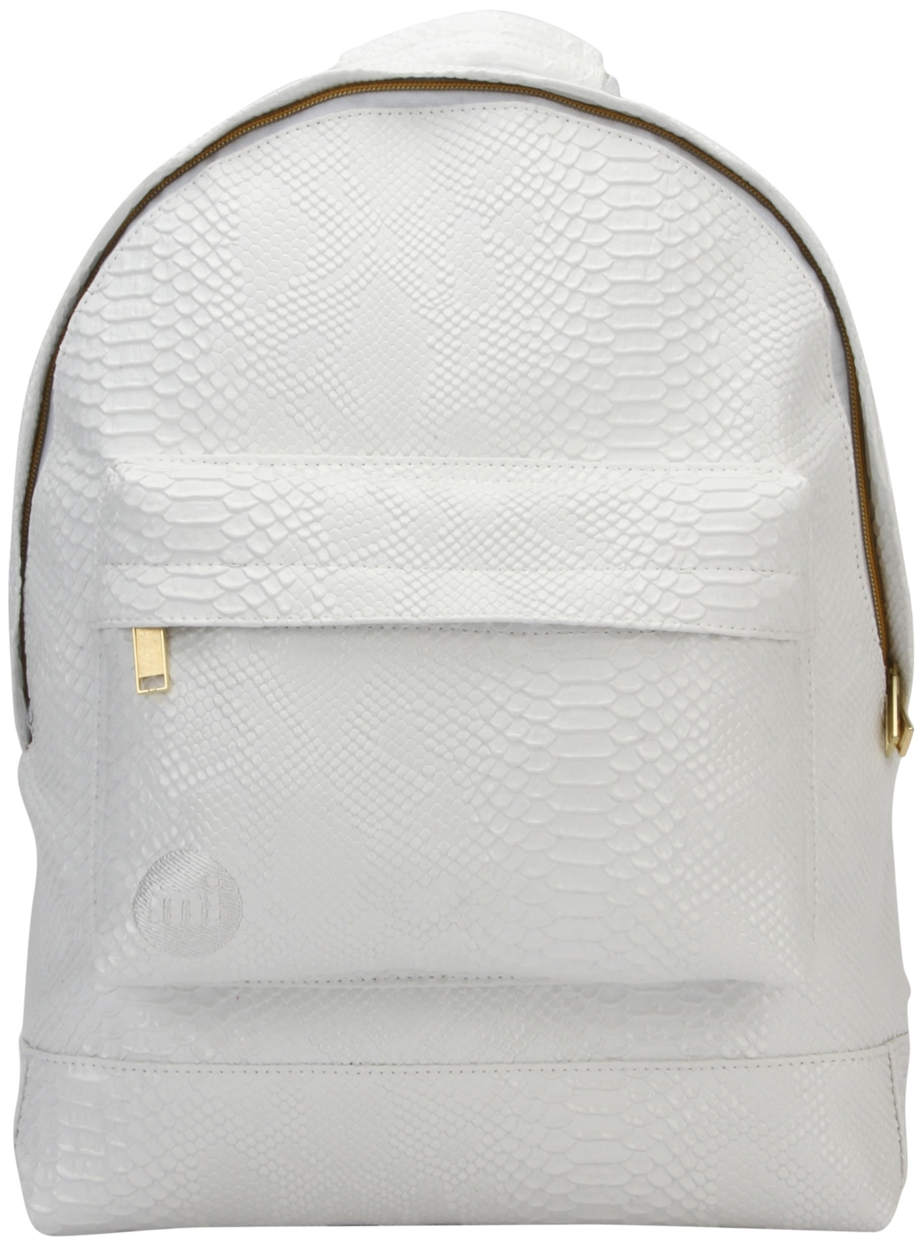 MiPac Patent Backpack  Python White
