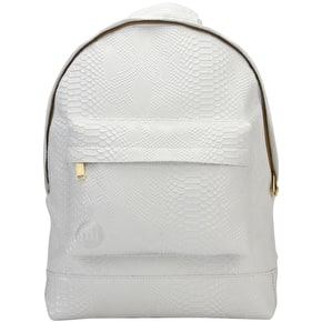 Mi-Pac Patent Backpack - Python White
