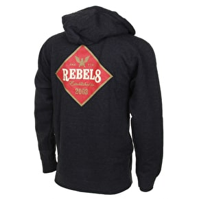 Rebel8 Draft Zip Hoodie - Charcoal Heather