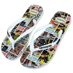 Havaianas Star Wars Kids Flip Flops - White