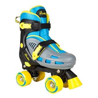 Rookie Duo Adjustable Quad Roller Skates - Blue/Yellow