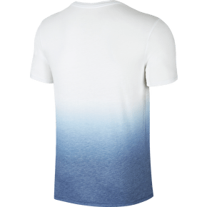 Nike SB Dri Blend Dip Dye T-Shirt - White/Industrial Blue