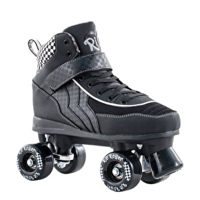 B-Stock Rio Roller Mayhem Quad Skates - Black/White - UK 8 (Box Damage)