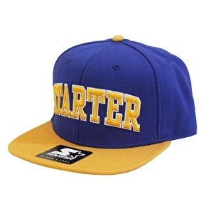 Starter College Arch Snapback Cap - Blue/Yellow