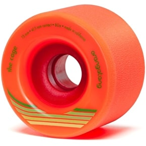Orangatang Cage 73mm Longboard Wheels - Orange (Pack of 4)