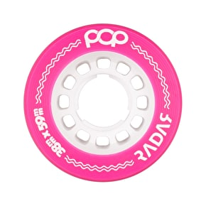 Radar POP 59mm Roller Derby Wheels - Pink 93a (Pack of 4)