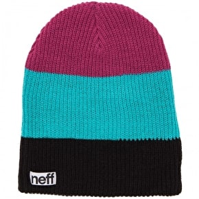 Neff Trio Beanie - Black / Teal / Raspberry