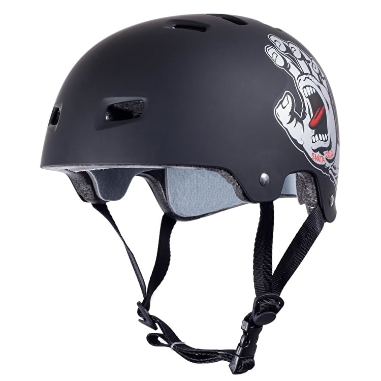 Bullet / Santa Cruz Colab Screaming Hand Graphic Helmet - Black