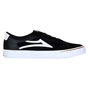 Lakai Ellis Skate Shoes - Black/White Suede