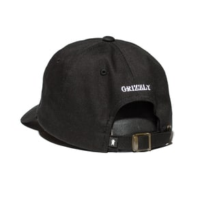 Grizzly OG Bear Logo Dad Hat - Black/White