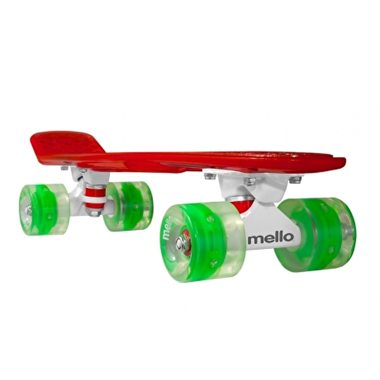 Mello Complete LED Skateboard - Watermelon Flip 22""