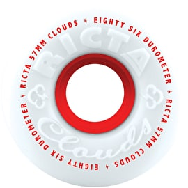 Ricta Clouds 86a Skateboard Wheels - White/Red (Pack of 4)